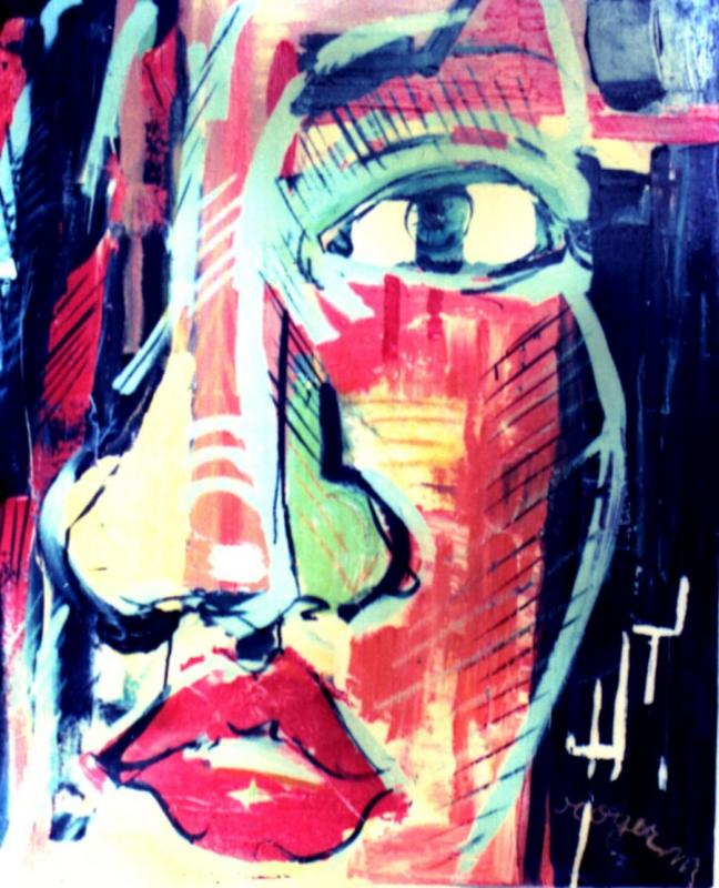 1996 sans titre 50x80 acrylique sur toile 1