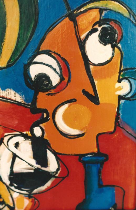 1997 le bon gout du vin 45 x 30 acrylique sur toile