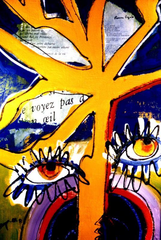 1997 le printemps 1 1997 45x75 acrylique sur toile
