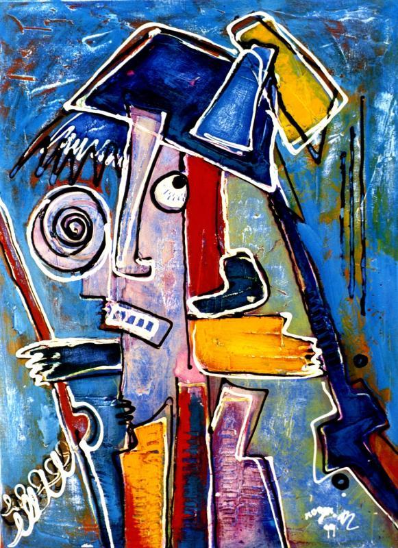 1999 le soldat malgre lui 1999 p20 acrylique sur toile