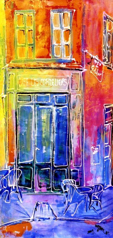2001 bar des cordeliers 2001 60x30 acrylique sur toile 1