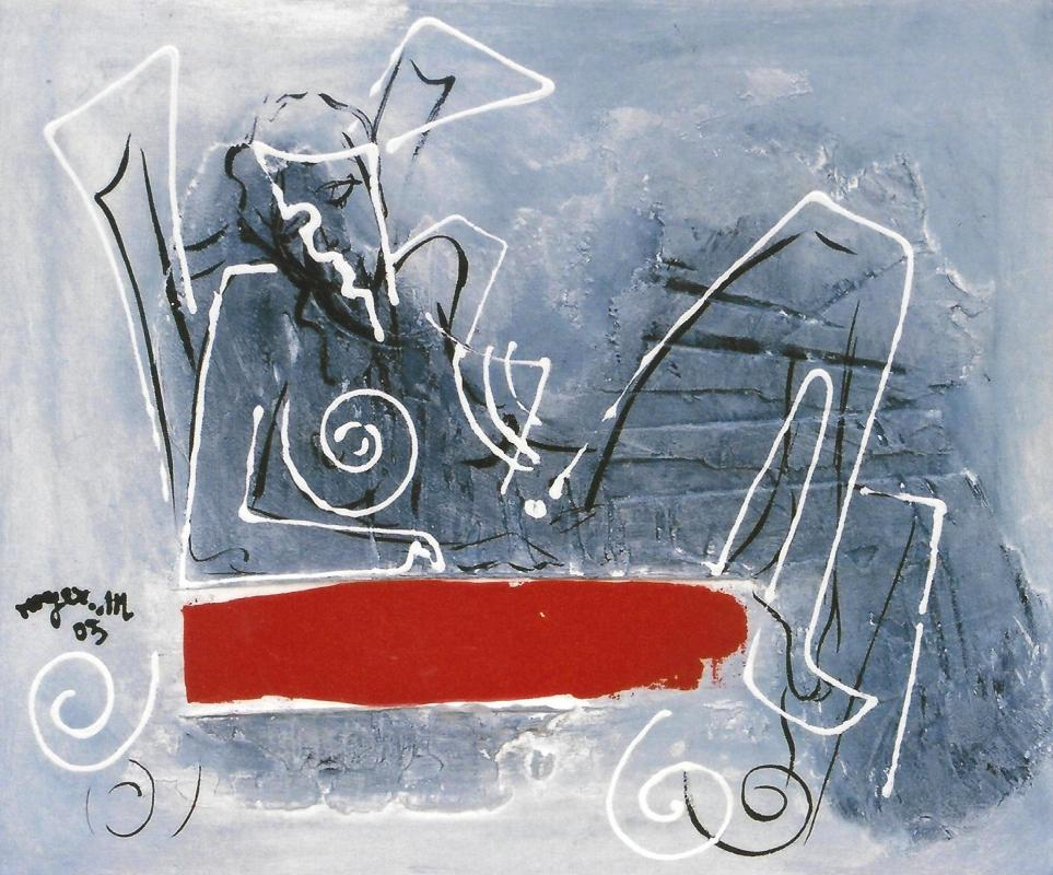 2003 sans titre 40 x 50 acrylique sur toile