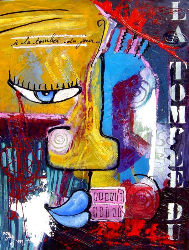 2005 a la tombee du jour 2005 70x100 acrylique sur toile