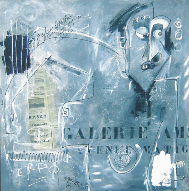 2005 galerie hansen 100 x 100 acrylique sur toile r