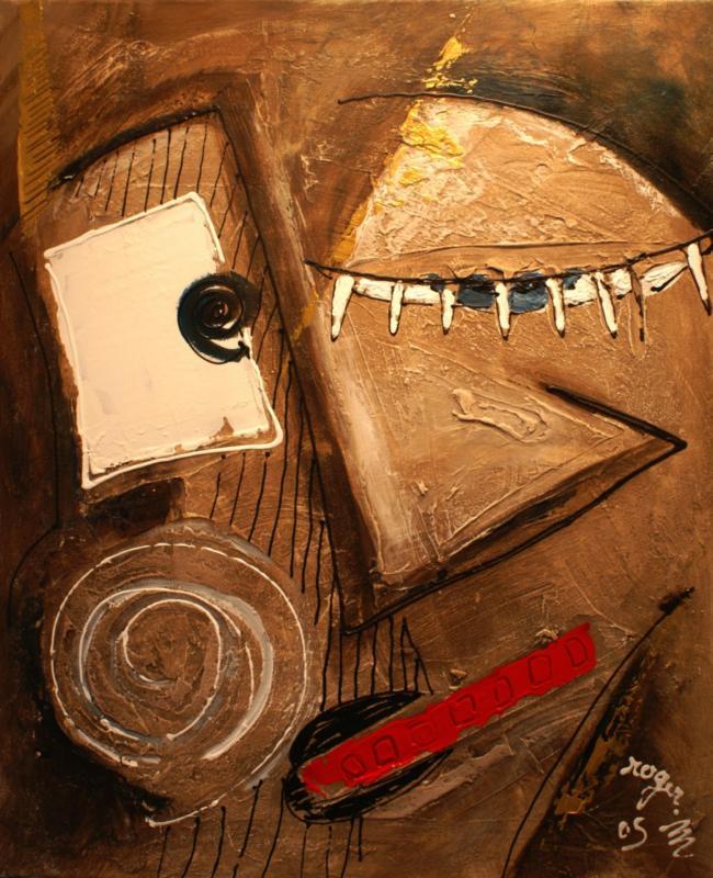 2005 leon acrylique sur toile 50 x 60