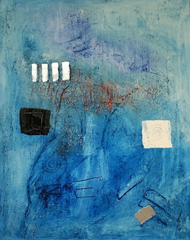 2005 reves bleus 100 x 80 acrylique sur toile