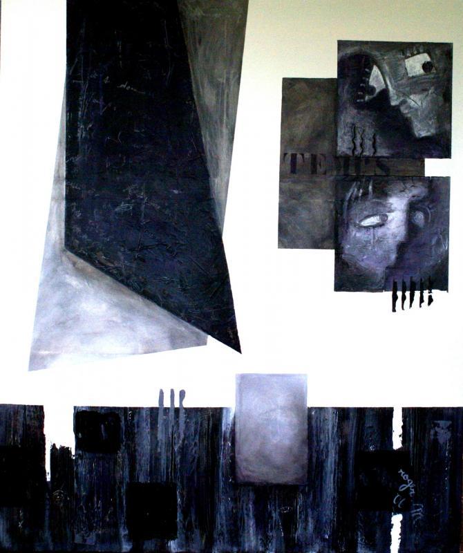 2006 le temps 130 x 160 acrylique sur toile 1