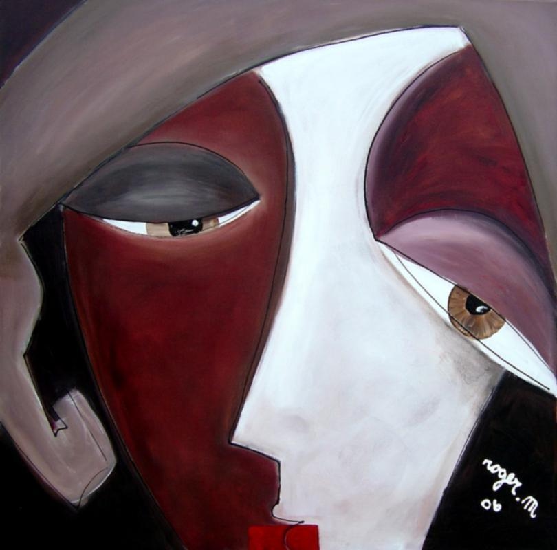 2006 libre exercice 2 margot acrylique sur toile 100 x 100