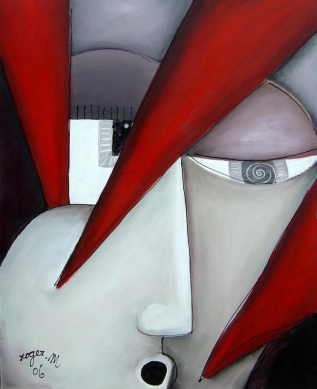 2006 libre exercice 3 acrylique sur toile 81 x 65