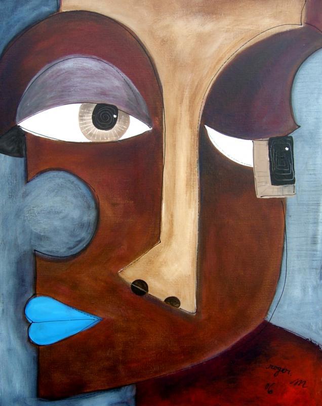 2006 puzzle 92 x 73 acrylique sur toile