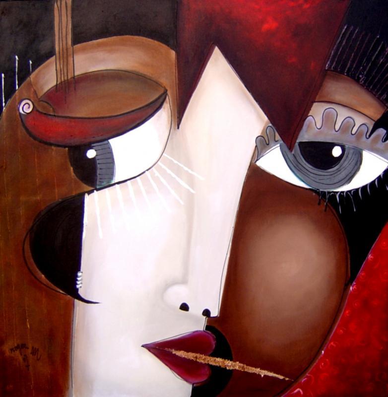 2007 adele 100 x 100 acrylique sur toile 1