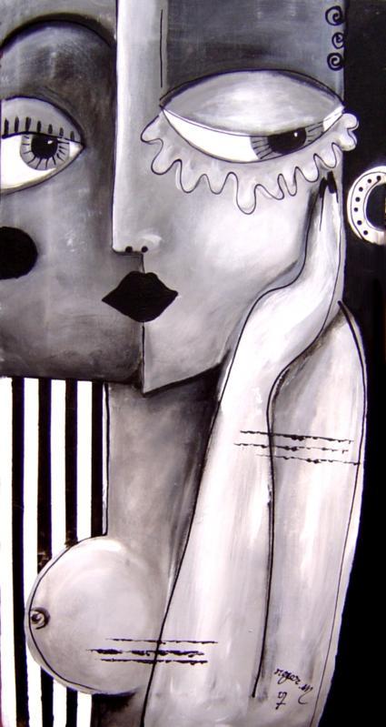 2007 idees noires 103x50 acrylique sur toile