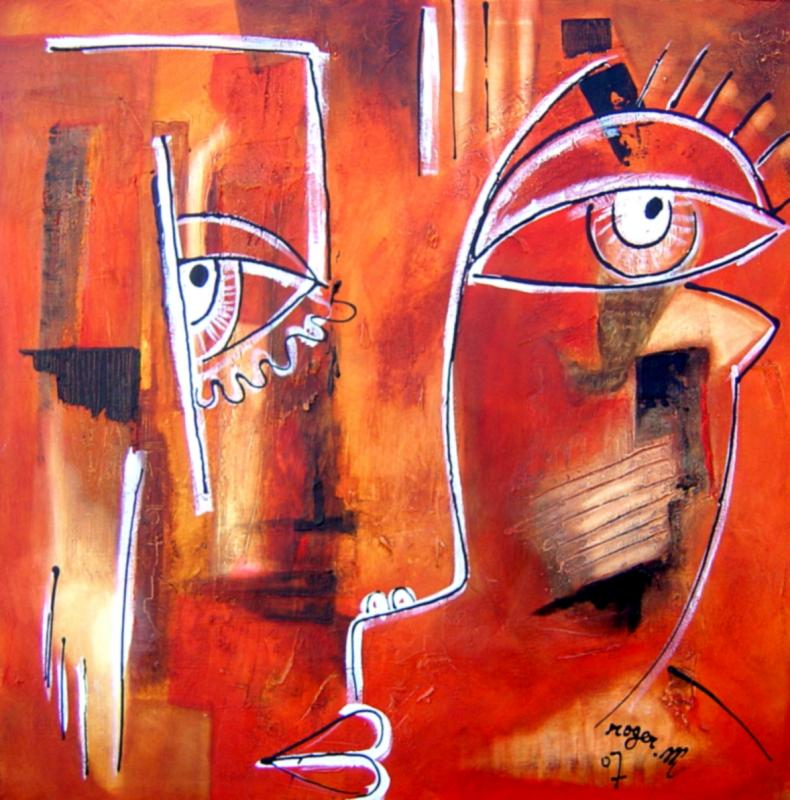2007 sans titre 100 x 100 acrylique sur toile