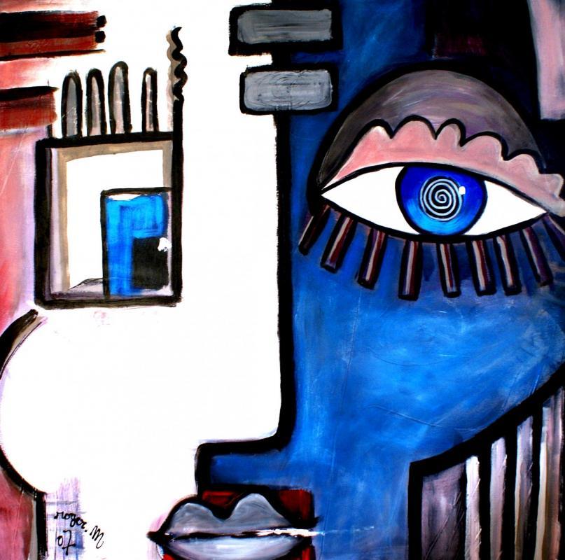 2007 sans titre 100 x 100 acrylique sur toile 1