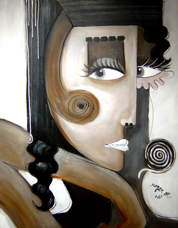 2008 sans titre 100 x 80 acrylique sur toile