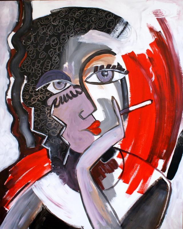 2009 sans titre 73 x 60 acrylique sur toile