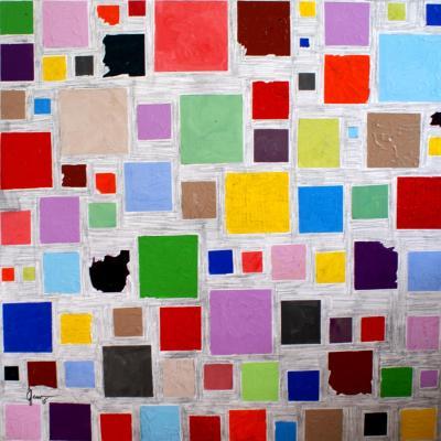2015 sans titre 80 x 80 acrylique sur toile
