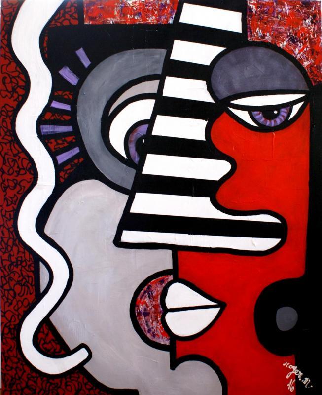 2016 la femme cyrano 100x81 acrylique sur toile